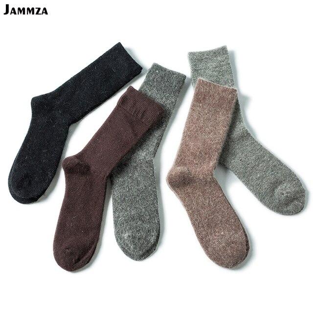 ecf7b01160235 Бесплатная доставка мужские Новые однотонные носки зимние толстые шерстяные  хлопковые теплые носки деловые дикие качественные брендовые
