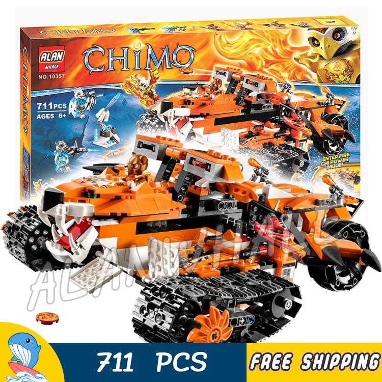 711 pièces Mobile commande de tigre incroyable réservoir de glace de tigre 10357 modèle blocs de construction enfants jouets garçons briques compatibles avec Lego
