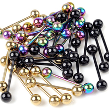 5pcs Stainless Steel Tragus Earrings Barbell Ball Ear Piercing Black Silver Gold Cartilage Ring Body Jewelry For Men Women