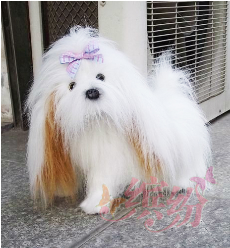simulation animal about 40cm beautiful shih tzu dog plush toy pet dog doll birthday gift w5447 stuffed simulation animal snake anaconda boa plush toy about 280cm doll great gift free shipping w004