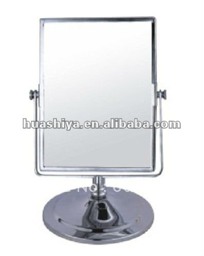 Elegant HSY 902 Glass Makeup Table Stand Metal Pocket Mirror
