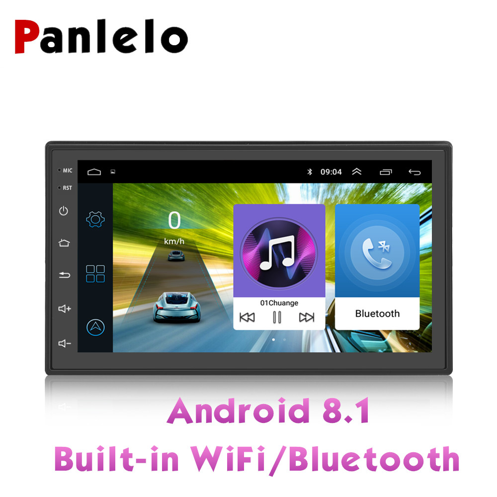 Panlelo 2 Din Quad Core Android 8.1 Touch Screen Multimedia 1GB+16GB Car Stereo 7 Inch 2din Head Unit GPS Navigation Audio Radio