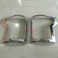2015 2016 2017 Taillight Overlay Lamp Cover Trim ABS 2pcs Detector Chrome Car Styling For Ford F150 Accessories