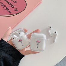 цена на Transparent hard PC Cases For AirPods Case Cute Cartoon Pattern Protective Cover Bluetooth Wireless Earphone Case For Airpods 2