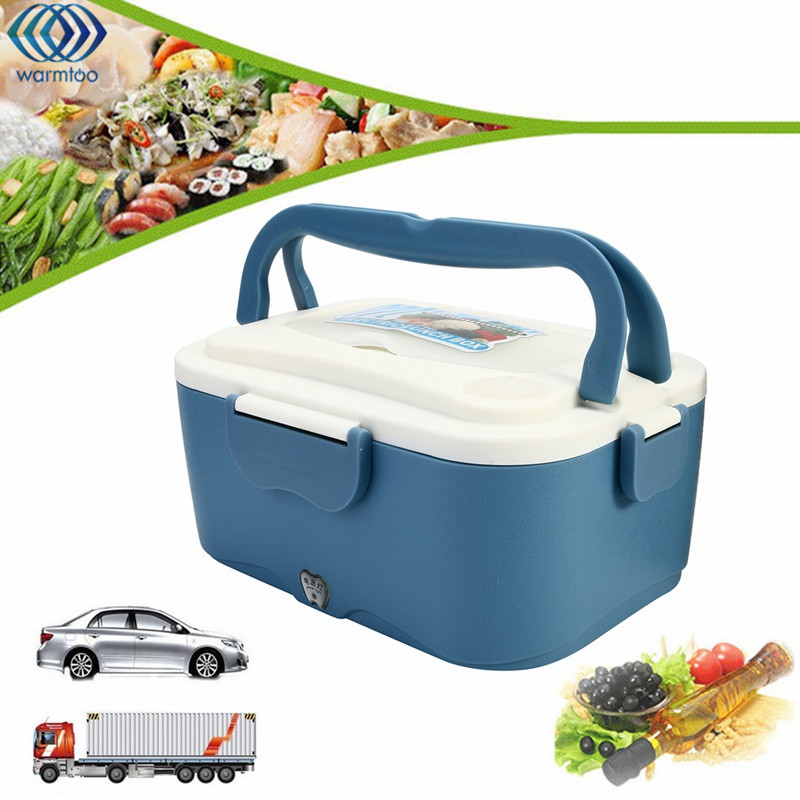 Electric Lunch Box Portable 1.5L Car Lunchbox 12V Car 24V Truck Electric Food Warmer Hot Rice Cooker Traveling Meal Heater portable 12v car electric heating lunch box rice cooker food warmer 1 05l 40w