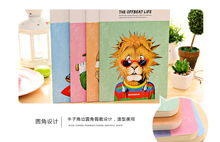 Creative stationery cartoon tide play family car line B5 large notepad notebook sub wholesale book