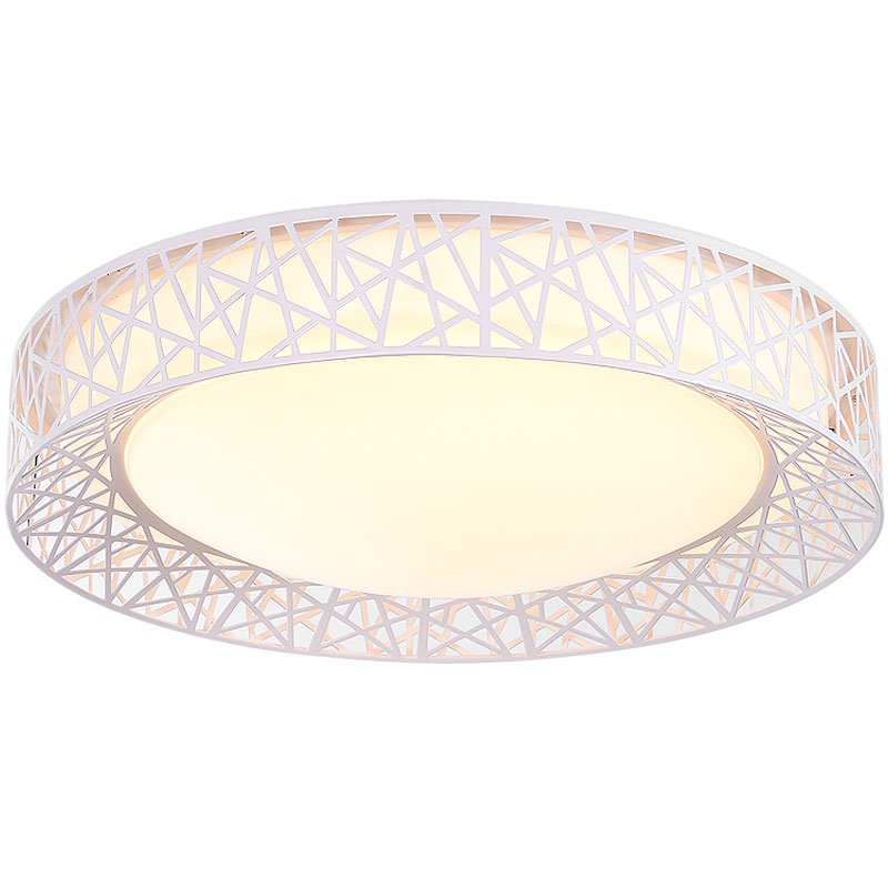 Modern LED Nest Living Room Ceiling Light Romantic Geometry Hollow Out Bedroom Ceiling Lamp Study Room Round Plate Lights modern brief led ceiling light moon 3 bedroom lights small living room lights child light