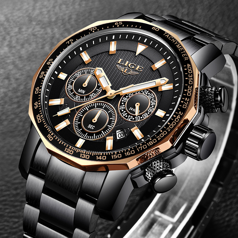 2019 New LIGE Mens Watches Top Brand Luxury Mens Waterproof Military Sports Watch Men All Steel Quartz Clock Relogio Masculino2019 New LIGE Mens Watches Top Brand Luxury Mens Waterproof Military Sports Watch Men All Steel Quartz Clock Relogio Masculino
