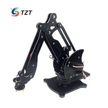 Assembled 4DOF Mechanical Robotic Arm Clamp Claw Manipulator Arm with Servos PVC,CNC Processing for Arduino DIY