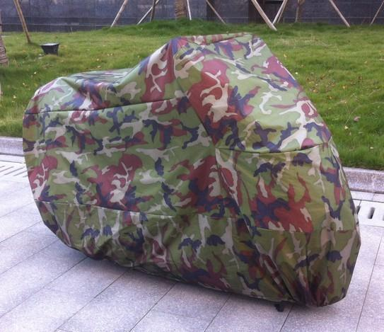 XXL 180T Polyester Anti-UV Breathable Forest Camouflage Motorcycle Cover Double Stitch Seams For Motorcycle Trunk After Folde