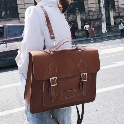 Multifunction Retro Female Big Tote bag Women's Designer Handbag Quality PU Leather Women Shoulder Messenger Bags