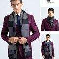 Los Hombres de la marca clásica Bufanda Bufanda Del Diseño De Invierno Para Los Hombres foulard cachecol Bufanda de celosía a cuadros Mantones Calientes de la Elegancia de Lujo