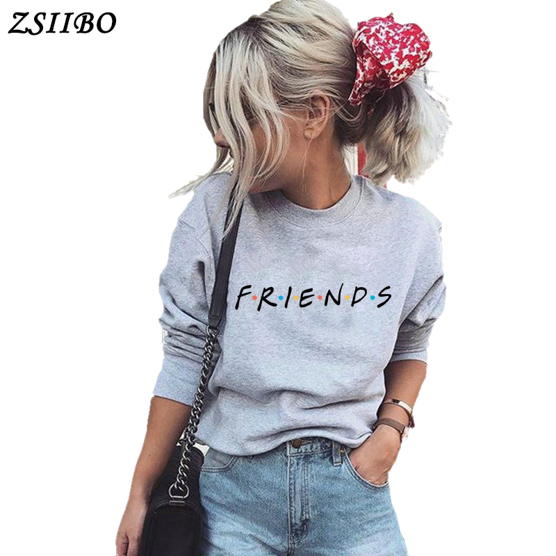 FRIENDS Letter Print Harajuku winter women t shirt Knitted Long Sleeve o neck Sweater Pullover Tops Shirt pullovers in T Shirts from Women 39 s Clothing
