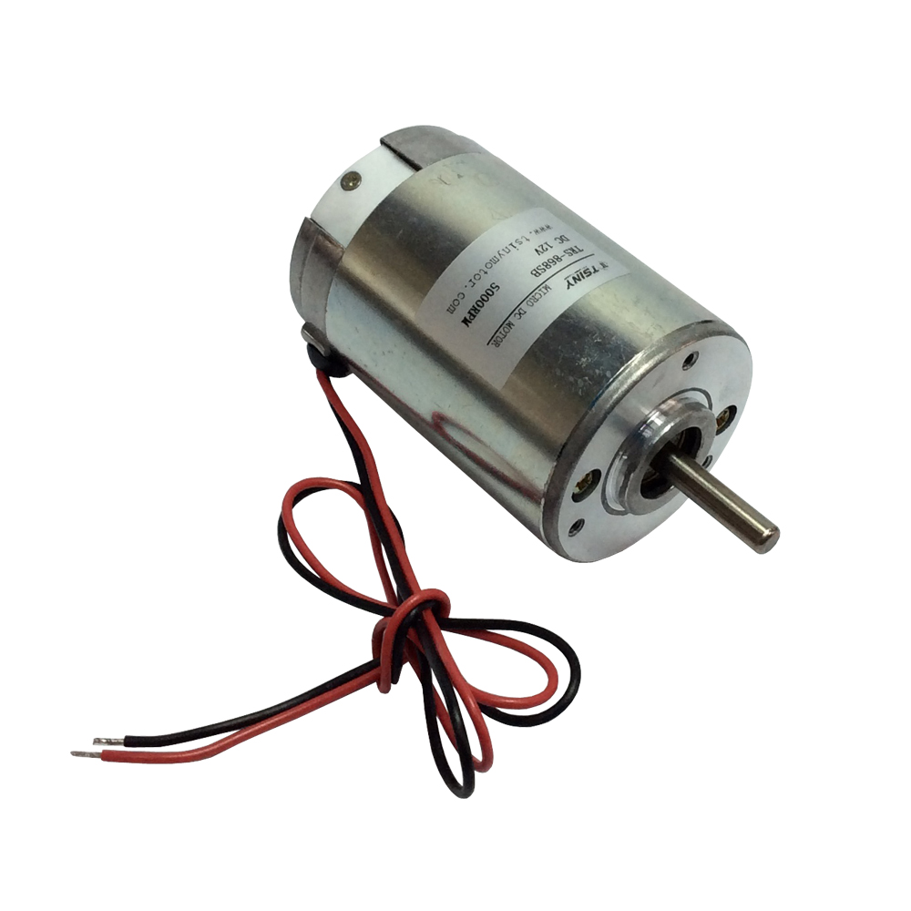 DC Electric Motor High Speed 12V 5000rpm Micro Bruch PMDC Motor with Ball Bearings Long Life sayoon dc 12v contactor czwt150a contactor with switching phase small volume large load capacity long service life