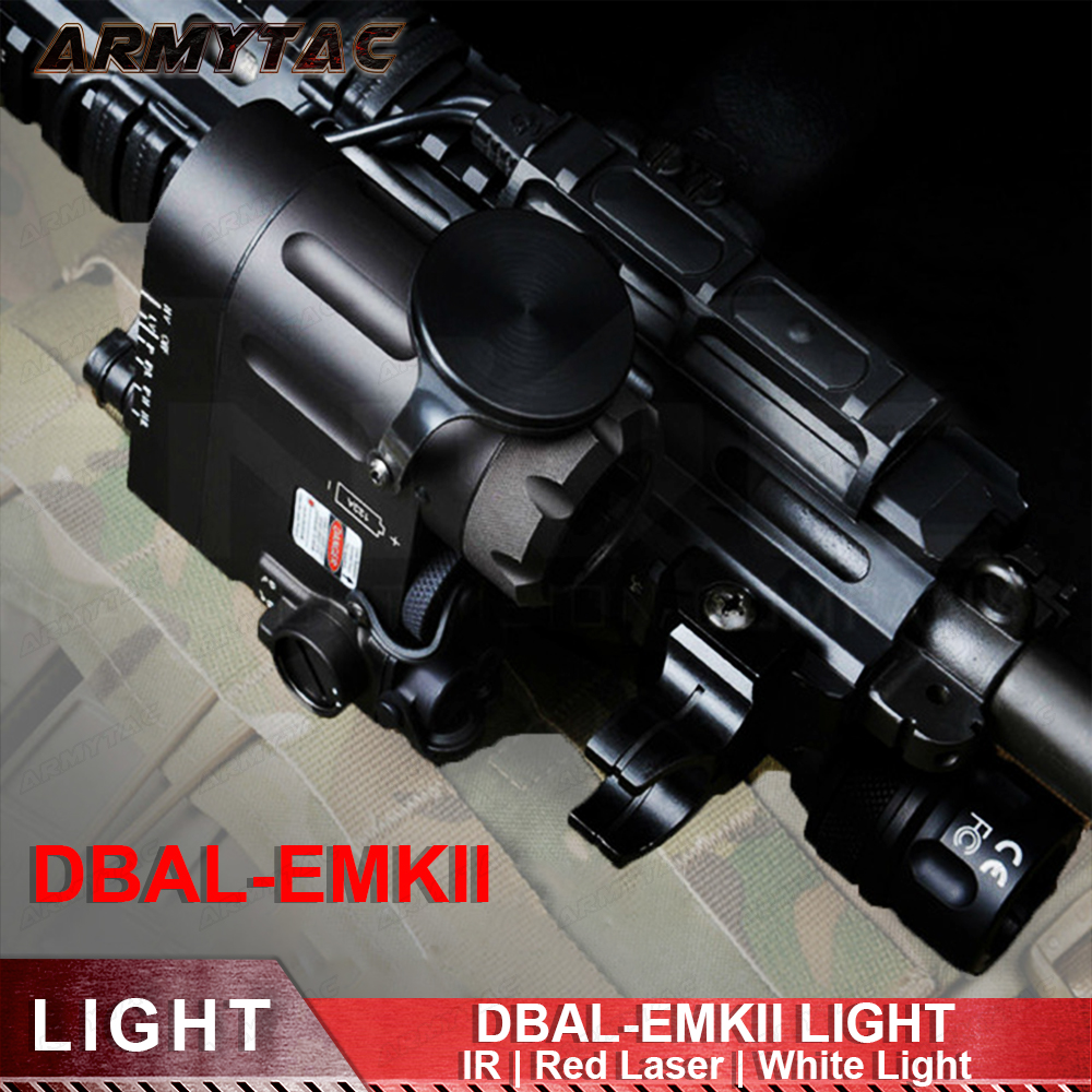 Airsoft Tactical Flashlight DBAL-EMKII IR Laser Led Torch Multifunction IR Laser Illuminator DBAL-D2 Weapon Lights for Hunting цена