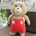 2017 Filme Ted 2 Brinquedos de Pelúcia tamanho Grande Urso de Pelúcia no Avental 45 CM Urso Ted Plush Dolls para as crianças do bebê presentes