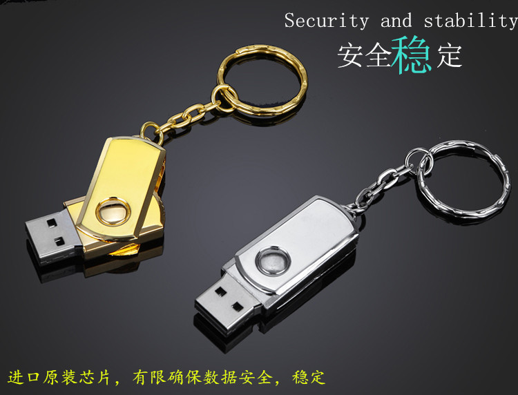 USB Flash Drive 4gb 8gb 16gb 32gb 64gb Gold Silver usb 2.0 pendrive pen drive With Key Ring memory stick metal u disk Best Gift ourspop u527 aluminum alloy usb flash drive silver 8gb