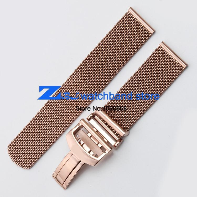 Hög kvalitet tjockt rostfritt stål klockband Mesh stålband silver - Tillbehör klockor - Foto 6