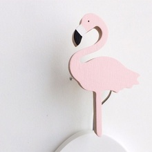 ФОТО Cool  Flamingo wooden clothes hook for kids room wall decorate children room ECO  hanger hook