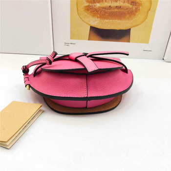 Cheap shoulder crossbody bag genuine leather cowhide saddle minibag fashion bags with detachable strap for women 2019