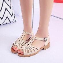 Zapatos de Mujer Chanclas Sandalias Zapatos Mujer Dulce Plana Zapato de Las Señoras Hueco Flor de la Playa de Bohemia Del Verano Del Flip-flop Ocasionales Sapatos
