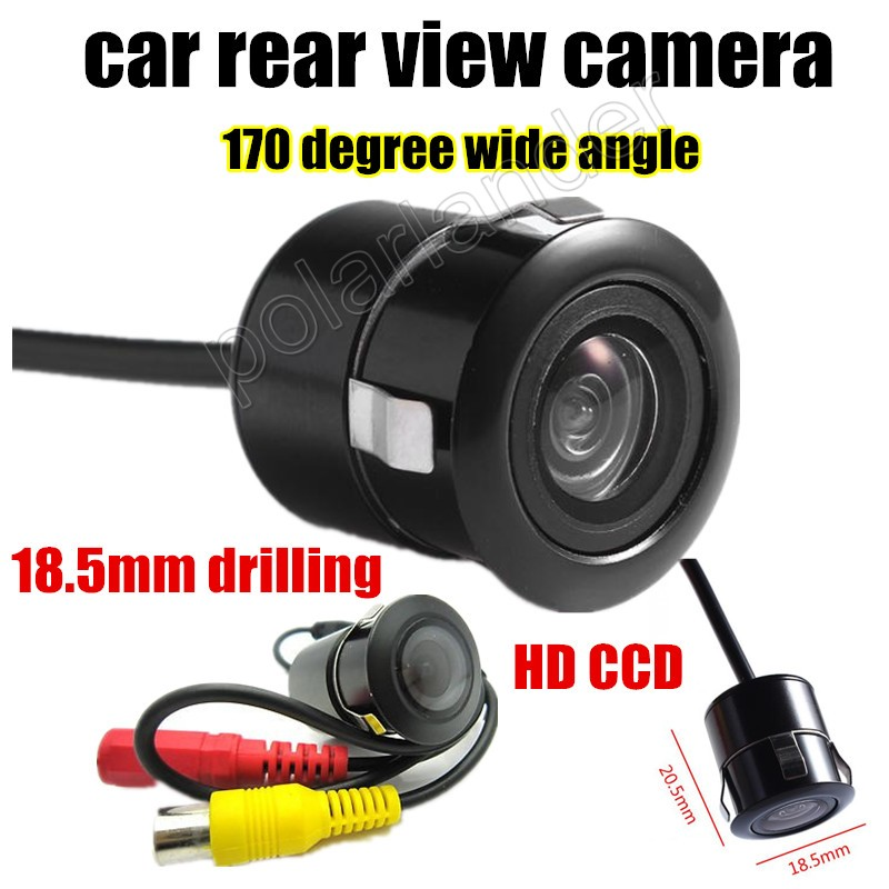 Hot sale Night Vision Mini Car Rear view Camera Reverse parking camera 18.5mm drill Parking Assistance 170 degree wide angle