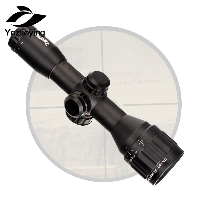Tactical Optical Sight Rifle Scope 6x32 AO Mini Mil-Dot Double Color Illuminated Reticle Hunting Riflescope zos 3 12x40 ao mil dot reticle riflescope classic tactical weapon optical sight for hunting rifle scope with lens cover