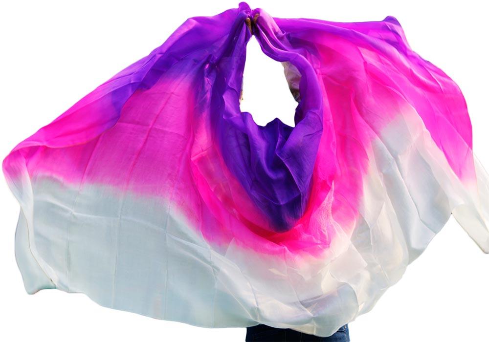 2016 diseño 100% real seda velo de danza del vientre, velos de baile - Novedad