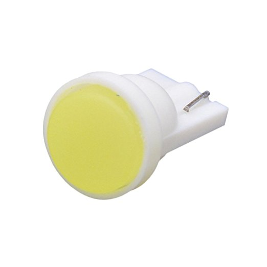 10pc Ceramic Car Interior LED T10 COB W5W Wedge Door Instrument Side Bulb Lamp Car White Source 12V white red yellow 10pcs car style interior led t10 cob w5w 168 wedge door instrument side bulb lamp car light white blue green red yellow source