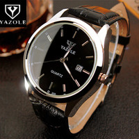 Top Brand YAZOLE Watch Men Fashion Luxury Quartz Watch Auto Date Waterproof Sport Watches Business Watch