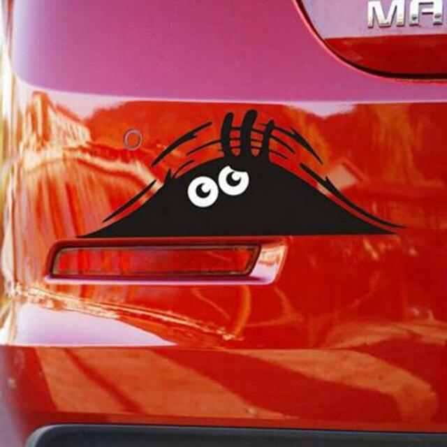Offre spéciale autocollants de voiture drôle Peeking monstre Auto voiture murs fenêtres autocollant graphique vinyle voiture décalcomanies