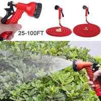 25FT-100FT Garden Hose Expandable Flexible Water Hose Pipe for Garden Watering Kit with Spray Gun Car Wash Gun