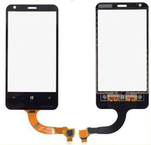 10pcs/lot 100% Top Quality Brand New Original Touch Screen Digitizer For Nokia Lumia 620 N620 Compatible Free Shipping