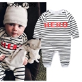 Striped baby clothes HERO baby rompers newborn baby costume white/ black fashion baby boy rompers