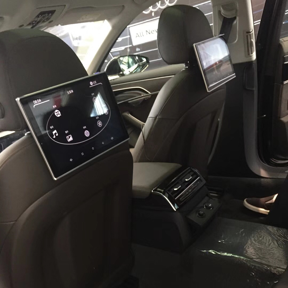 In Car DVD Headrest Entertainment System TV Screens For Audi A6 C7 2018 Android Monitor 11 8 Inch 2PCS in Car Monitors from Automobiles Motorcycles