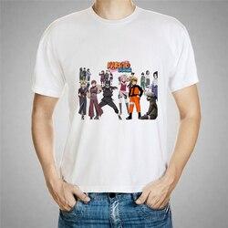 Naruto i Jiuwei Fox cartoon drukowanie męska koszulka nastolatki nowy krótki T-shirt Naruto koszula nastolatki Sakata Gintoki koszulki 57-22 # 5