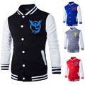 Pokemon Go Baseball coat Logo Logo Sweatshirt Team Valor Instinct Mystic Symbol Cosplay Costume Jacket Hoodie Plus Size