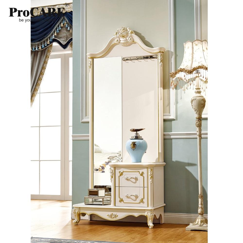 €418.61  Miroir de style européen et américain de luxe avec tiroir pour  chambre à coucher avec sculpture dorée-in Ensembles chambre à coucher from  ...