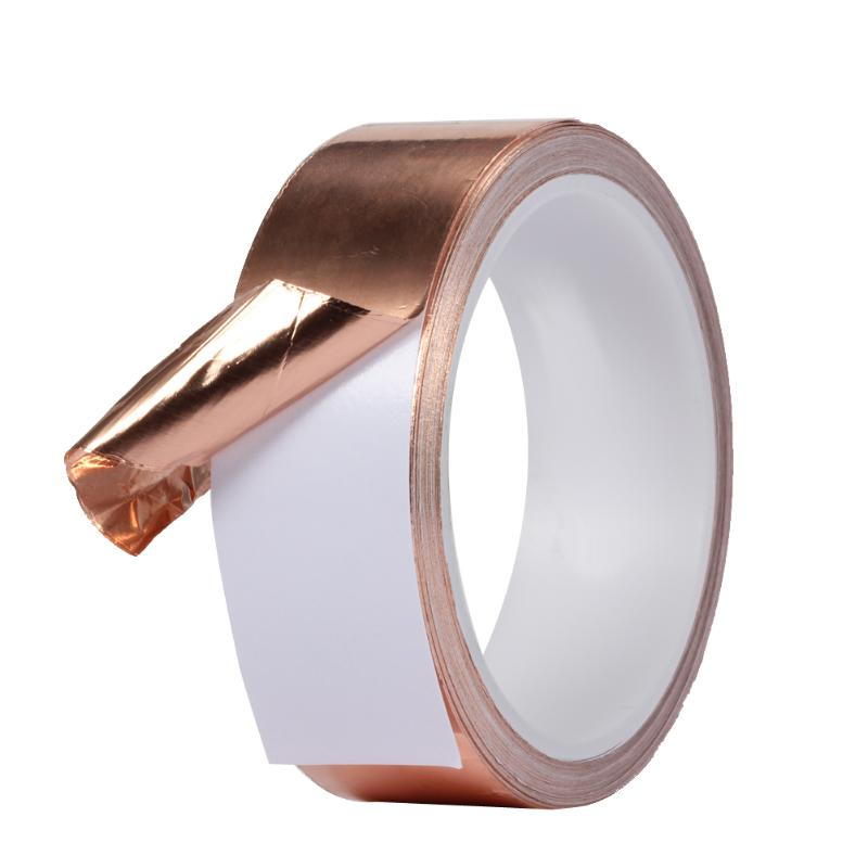 50mm X 5.5m Double Conductive Adhesive Duct Tape Shielding Copper Tape Foil Great For Slug Repellent EMI Shielding Stained Glass50mm X 5.5m Double Conductive Adhesive Duct Tape Shielding Copper Tape Foil Great For Slug Repellent EMI Shielding Stained Glass
