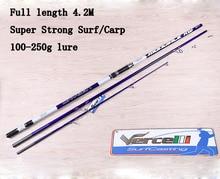 2017 UCOK 1pcs/pack 4.2M Carbon fiber ultra hard long casting far shot distance throwing carp fishing surf anchor fishing rod