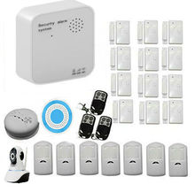 Cámara IP Inalámbrica WiFi Gsm de Control Remoto del Sistema de Alarma de Ladrón de la Seguridad A Través de IOS y Android APP para la Casa Hogar Seguro