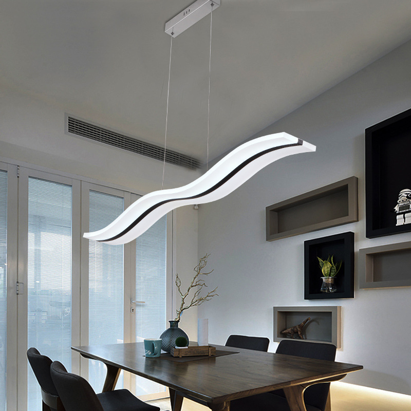 Lights & Lighting Ceiling Lights Efficient Restaurant Light Chandelier Modern Minimalist Nordic Creative Personality Living Room Three Bar Table Lamp Dining Room Led Table