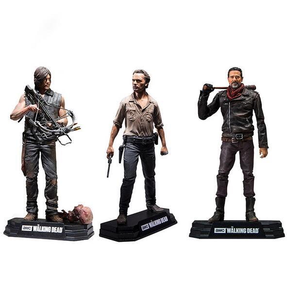 NEW hot 15 cm The Walking Dead Season 8 Rick Grimes Daryl Dixon Negan action figure colecionador de brinquedos boneca de presente de Natal com caixa