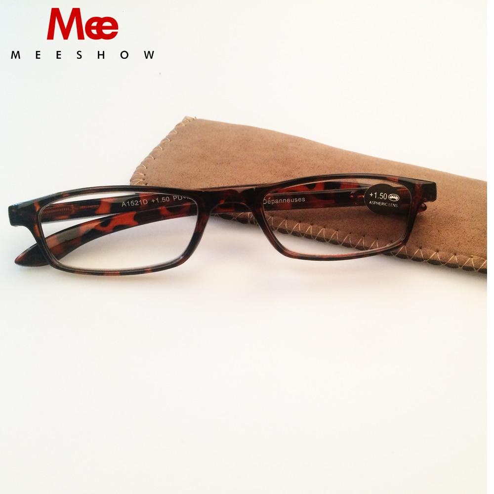 150fd6b5084 2019 MEESHOW slim Reading glasses High quality brand designer Men Women +1.0  +3.5 flex