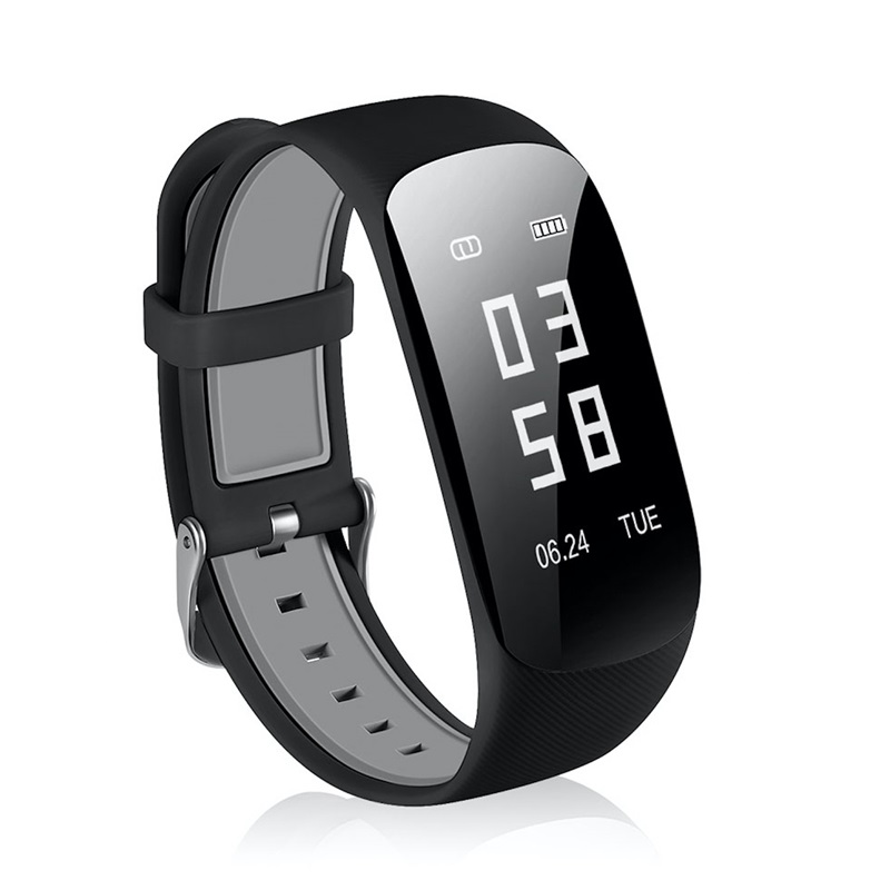 Newest Multifunctional Smart Heart Rate Monitor Watch Outdoor Sport Fitness Curved Screen Watches Bluetooth Pedometer Wristband