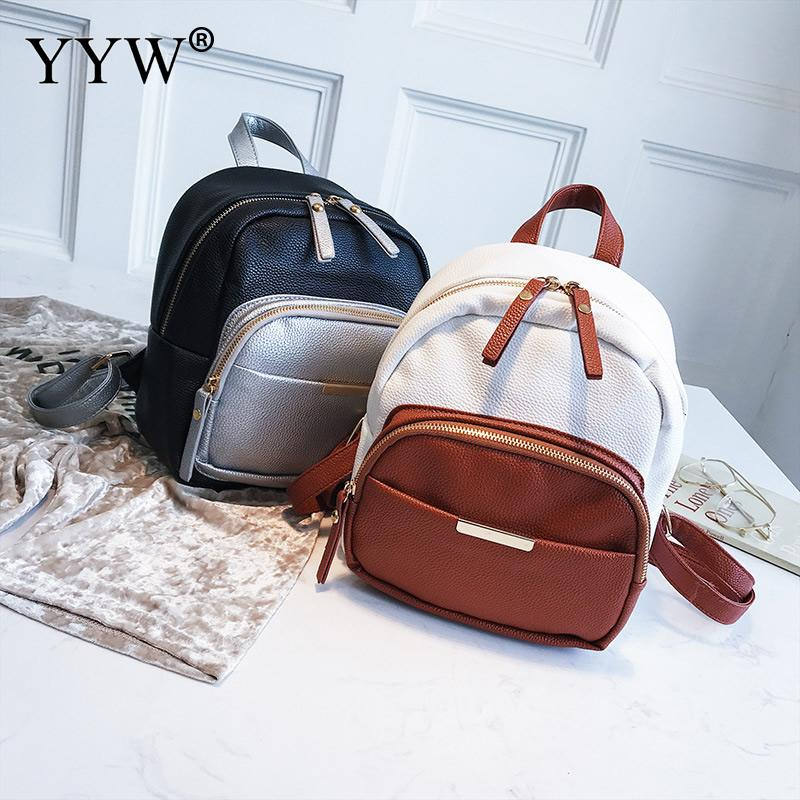 Luggage & Bags Fashion Womens Small Tote Backpack Satchel Shoulder Rucksack Mini Bag Travel Pu Leather Backpacks Black Brown Gray Pink Red Orders Are Welcome.