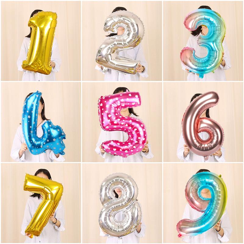 32inch Rainbow Number 16 18 21 25 30 40 50 60 100 Years <font><b>Birthday</b></font> Foil Balloon Adult Party <font><b>Decoration</b></font> <font><b>18th</b></font> 21st 0 1 2 3 4 5 6 7 8 image