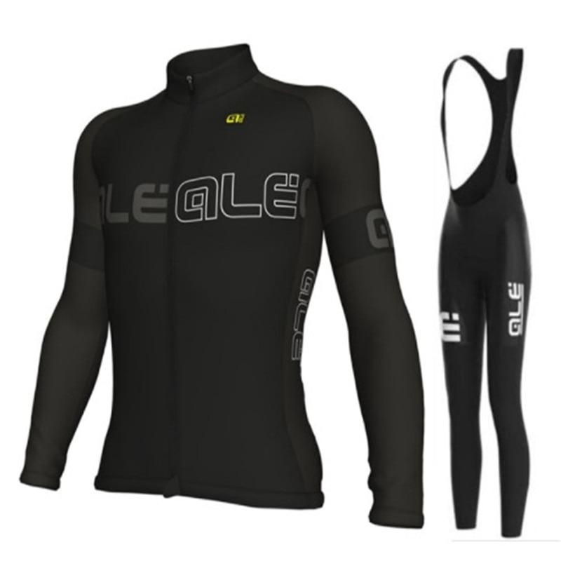 2017 cycling jersey ALE long sleeve pro bike bib pants set Ropa Ciclismo mens cycle wear bicycle uniformes Maillot Sportwear