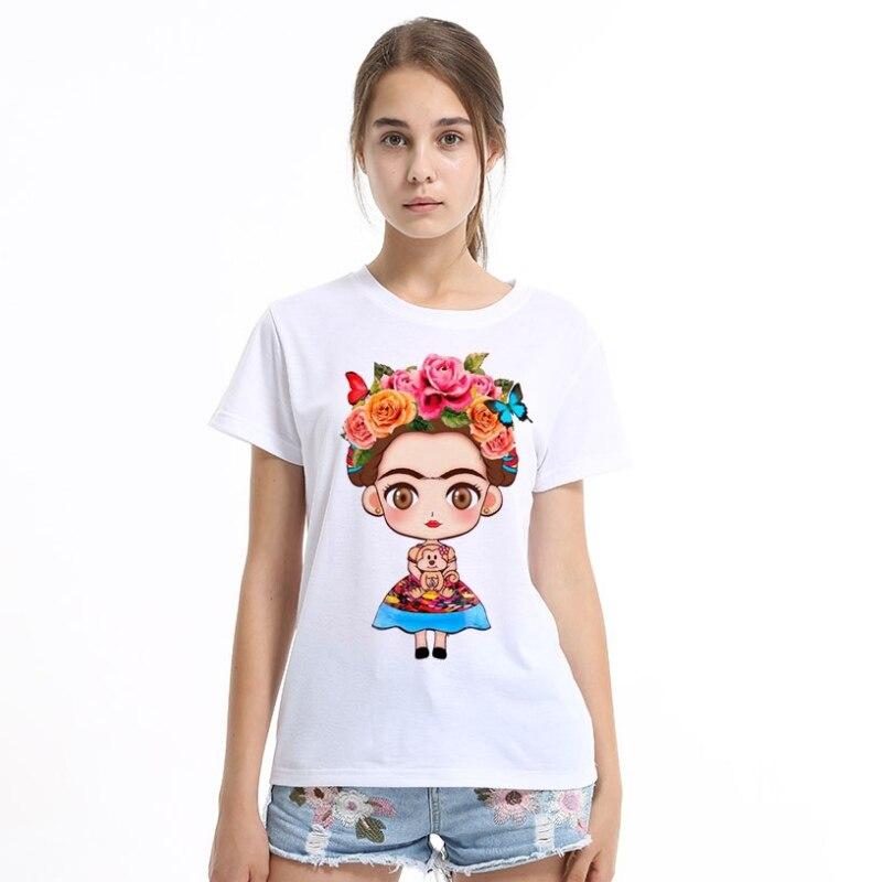 2018 Donne Bianco T Shirt Manica Corta T-shirt O-collo Tops Moda Panda Del Fumetto Stampato Hip Hop Tee Shirts