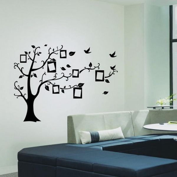 Aliexpress.com : Buy Home Black Tree Design Wall Stickers 50*70 CM Art  Mural Sticker Wall Sticker For Home Office Bedroom Wall Stickers Decor From  Reliable ... Part 66